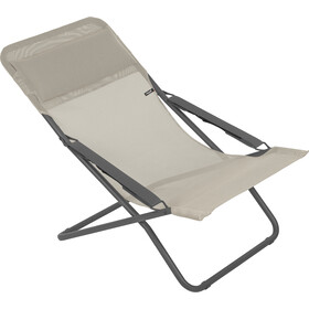 Lafuma Mobilier Transabed Sun Lounger with Cannage Phifertex seigle